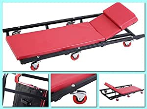 Mechanics roller creeper seat garage tool for Equipement complet garage auto