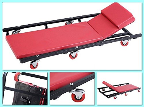 Mechanics Roller Creeper Seat Garage Tool Equipment Repair Work Under Your Car Or Truck With Metal Frame And Full Padding – House Deals