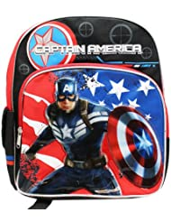Small Size Black Captain America the Winter Soldier Backpack