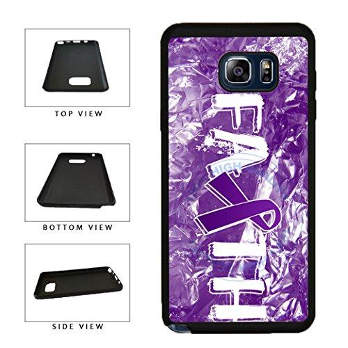 BleuReign(TM) Pancreatic Cancer Awareness Faith Ribbon TPU RUBBER SILICONE Phone Case Back Cover For Samsung Galaxy S8