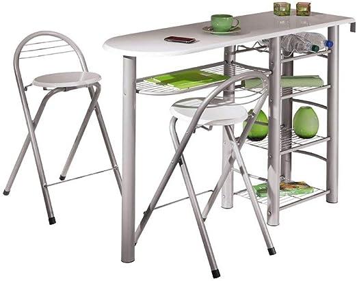 Inter Link Frolly 1 Mesa de Cocina con 2 taburetes de Bar MDF ...