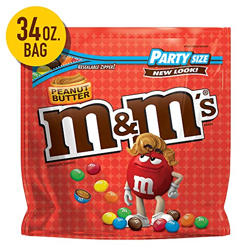 M&M'S Peanut Butter Chocolate Candy, 34-Ounce Party Size Bag