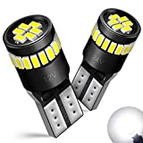 AUXITO Super Bright LED Bulbs 168 175 194 2825 W5W T10 24-SMD 3014 Chipsets 6000K White for Car Dome Map Door Courtesy Marker License Plate Lights Pack of 2