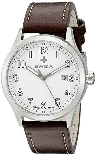 Swiza Men's WAT.0251.1001 Kretos Analog Display Swiss Quartz Brown Watch