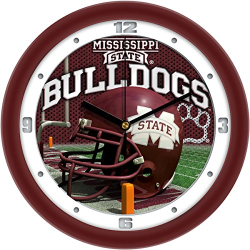 SunTime NCAA Mississippi State Bulldogs Helmet Wall Clock