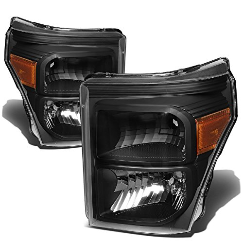 - For Ford Super Duty Pair of Black Housing Amber Corner Headlight Replacement