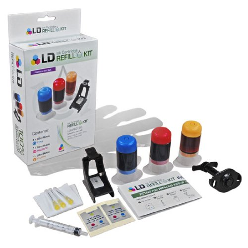 LD © Color Ink Refill Kit For Hewlett Packard C9363WN (HP 97)