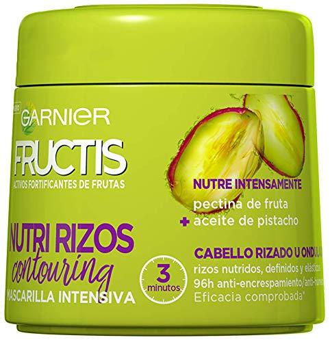 Garnier Fructis Nutri Rizos, Mascarilla para Cabello Rizado u Ondulado - 300 ml