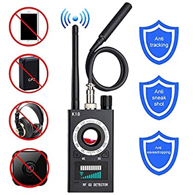 Anti-spy Camera Bug RF Detector,ONTOTL Wireless Bug Detector Hidden Camera Lens Detector Radio Wave Signal Detect Full-range GSM Device Finder,Camera Detector for Anti Eavesdropping/Candid/GPS Tracker from ONTOTL