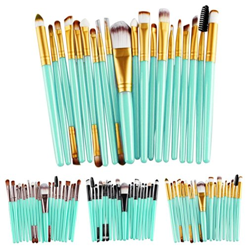 Cinidy 20 pcs Makeup Brush Set tools Make-up Toiletry Kit Wool Make Up Brush Set