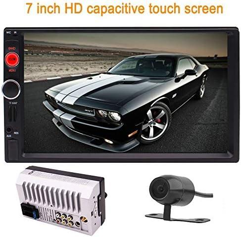 フリーリアビューカメラ+ 7インチ車のMP3 / MP5プレーヤーダブル2DINカーステレオ容量性タッチスクリーンラジオGPSナビゲーションサポートBlueoothのUSB / FM/AM/RDSラジオ