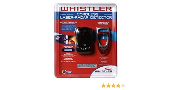 Amazon.com: Whistler Cordless Laser-Radar Detector with POP Detection: Car Electronics