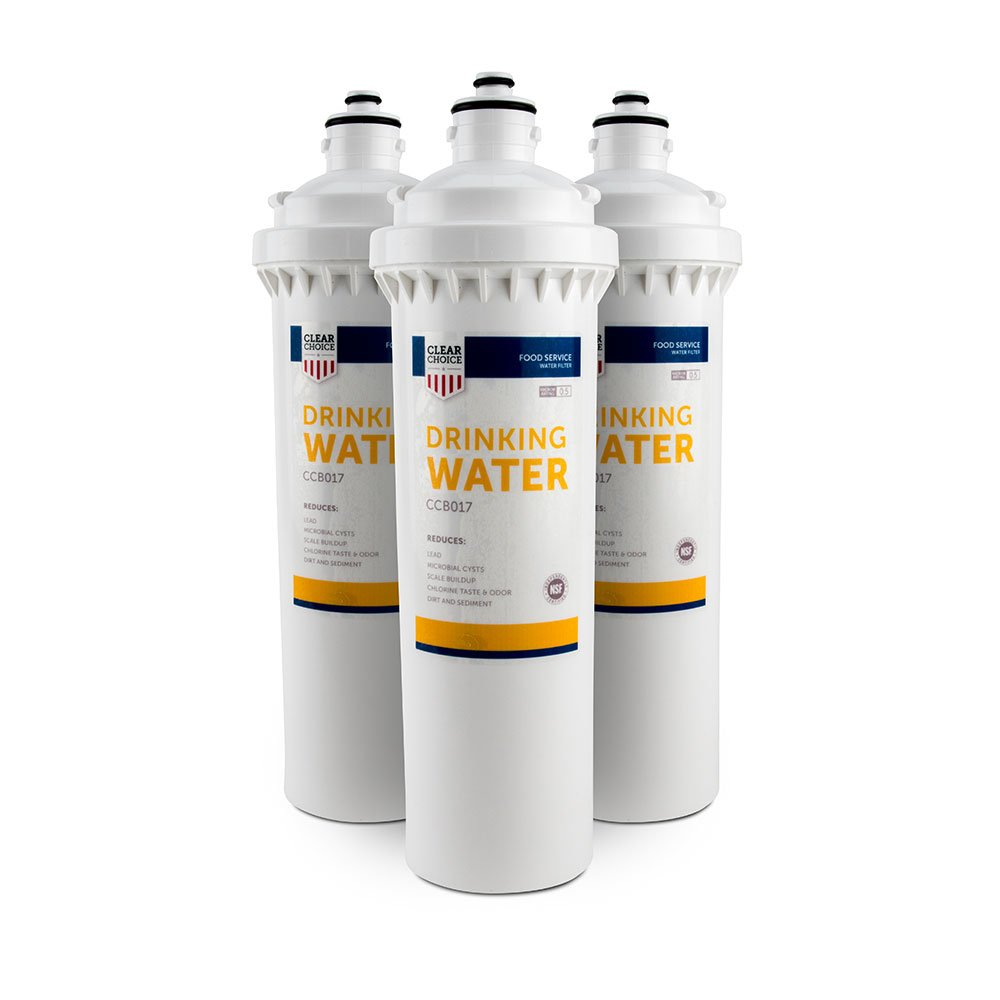 Clear Choice Drinking Water Filtration System Replacement Cartridge for Everpure EV9270-74 EV9611-16 EV9612-11 EV9612-16 EV9635-06 H-104 Also Compatible with Nu Calgon 9635-06, 3-Pack ClearChoice