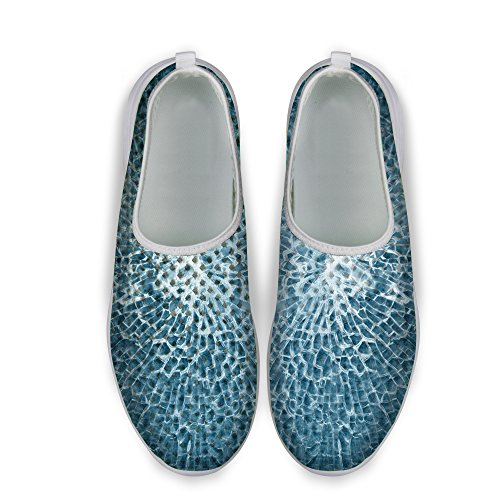 FOR U DESIGNS Cool Unisex Womens & Mens Mesh Light Breathable Sneaker Running Shoes Blue a 8dQ7kv