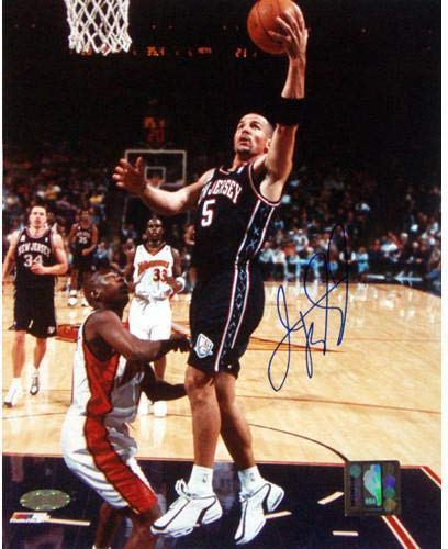 Jason Kidd New Jersey Nets Signed Lay-up vs. the Warriors 8x10 Photograph - Steiner Sports Certified (New Kidd Jason Jersey Nets Jersey)