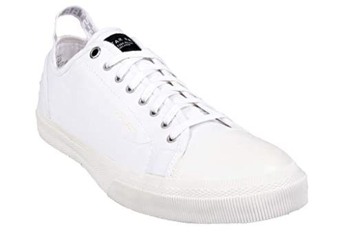 G-STAR RAW Zapatillas de Deporte de Lona Para Hombre Blanc (White)