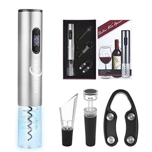 Electric Wine Opener Corkscrew Wine Bottle Opener Set Battery Powered Automatic Wine Openers Accessories Kit Cutter Vacuum Stopper Aerator Wine Pourer (Batteries Not Included)
