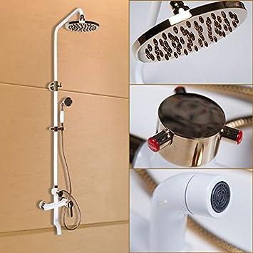 bfdgn simple durable et robuste cuivre bross baignoire douche blanc grill cu continental toutes les douches - Kit Salle De Bain Pour Hotel