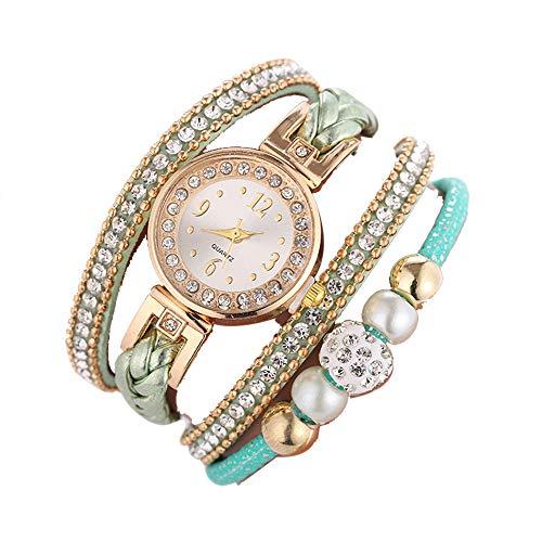 Ladies Watch Beautiful Fashion Bracelet Wristwatch Round bracelet watch 2019 Deals! Lover Gift Holiday present (Green)