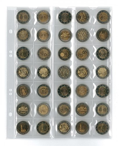 Coin Pages Universal For 35 Coins 5 Pieces Lindner Mu35