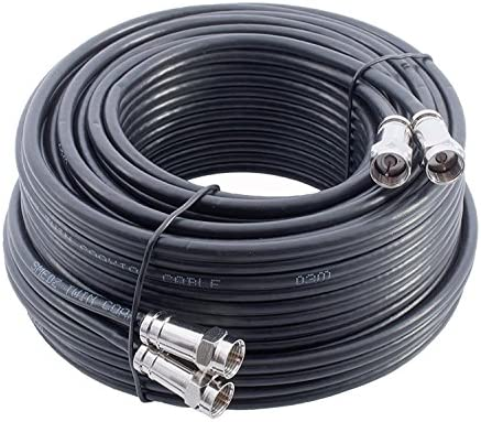 Mast Digital YCAB03H/1 - Cable coaxial de 20 metros, negro: Amazon ...