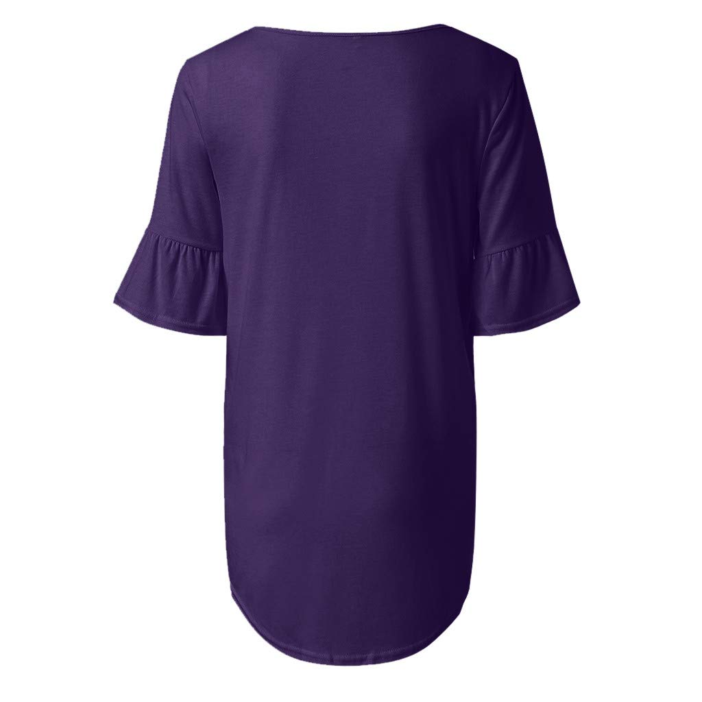 AOJIAN Shirts for Women,t Shirts for Men Pack,Shirts for Teen Girls,Shirts for Women, Shirts for Teens,Shirts for Men Long Sleeve,Shirts for Girls,Shirts for Boys,Shirts to wear with Leggings Purple by AOJIAN (Image #4)