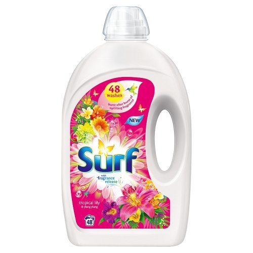 Surf Tropical Lily and Ylang Ylang Concentrated Bio Liquid Detergent (Pack of 48)