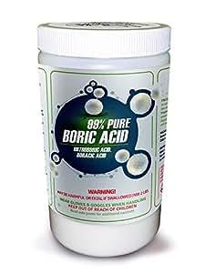 99% PURE BORIC ACID AKA Orthoboric Acid, Boracic Acid (2 lb)