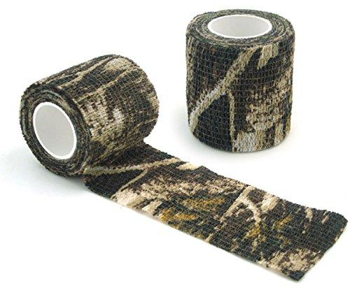 WINGONEER Self-adhesive Non-woven Camouflage wrap rifle gun Hunting Camo Stealth Tape 4.5M - - Wrap Rifle
