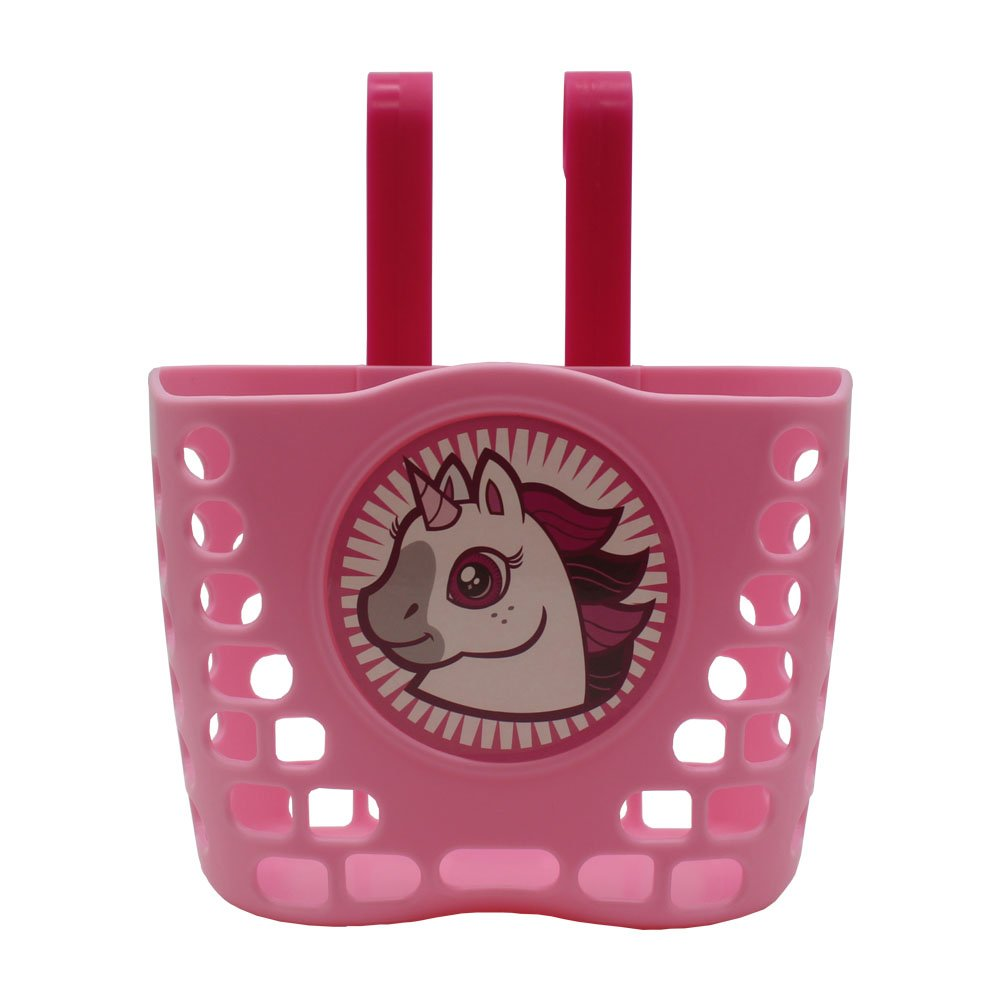 CHILDHOOD Children's Bicycle Basket, Pink Bike Basket for Girls Kids (unicorn)