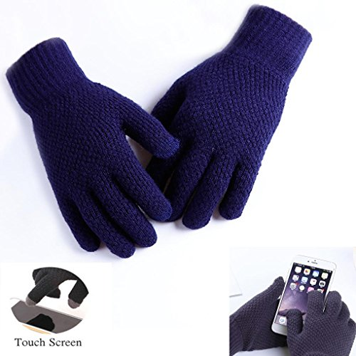 Winter Outdoor Riding Cycling Gloves Soft Thicken Knitted Touch Screen Texting Gloves for Smartphones PC Laptop Tablet Smart Touch-nology in Fingertips From ()