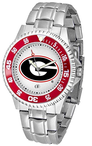 Ncaa Competitor Metal Band Watch - SunTime Georgia Bulldogs NCAA Competitor Mens Watch (Metal Band)