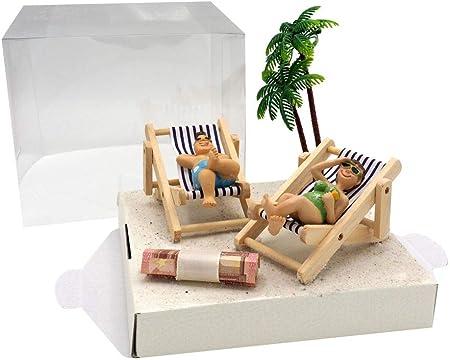 Caja para regalar dinero, diseño de playa: Amazon.es: Hogar