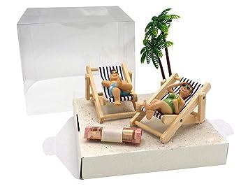 geldgeschenk urlaub reise strand geldverpackung geburtstag hochzeit geld