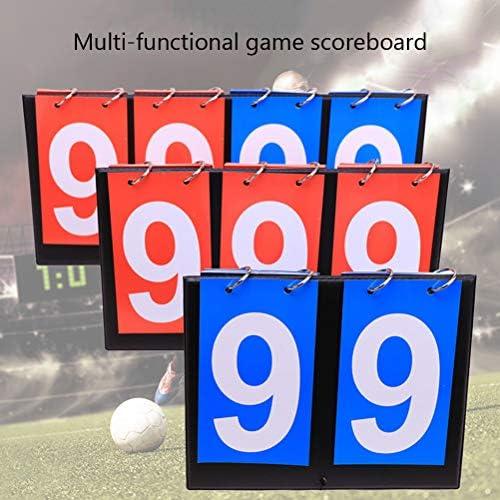 Uyuke Tabla de Resultados Deportivos Tablero Cuenta de puntaje Flip Tablero para Baloncesto Voleibol F/útbol Tenis