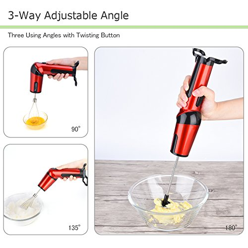 Vbestlife Hand Mixer Rechargeable Handheld Mixer Whisk Cordless Electric Egg Beater with Adjustable Head, Battery Powered by Vbestlife (Image #1)