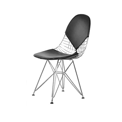 Ordinaire Amazon.com   LRZS Furniture Dining Chair Black And White Modern Iron Basket  Empty Ims Dining Chair Household Computer Chair (Color : Silver)   Chairs