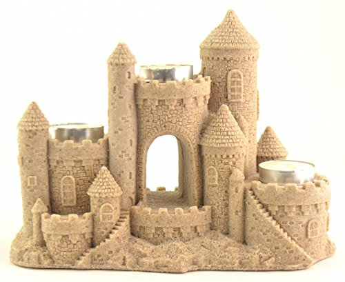 (Sand-Deco Sand Castle Figurine & Tealight Holder CAN755-3 Candles (Natural))