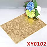 WWQY Ivory Pattern Leather Without Washing Placemat Dining Table / Wedding Banquet Dinner / Christmas Decor Favor / Table , golden
