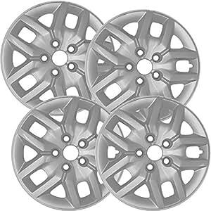 Tapacubos para Dodge Journey (Pack de 4, fijación a presión de fundas para ruedas - 17 pulgadas), color plateado: Amazon.es: Coche y moto
