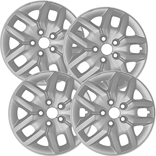 Hubcaps for DODGE JOURNEY (Pack of 4) Wheel Covers - 17 inch, Snap On, Silver Dodge Hub