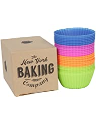NY Baking Co. - Silicone Baking Cups - Cupcake Liners 24 Count Stand Alone, Pan-Free, and Non-Stick