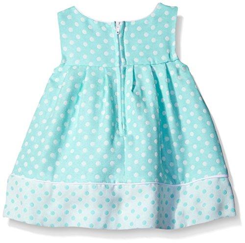 Bonnie Baby Baby-Girls Check Dress and Coat Set, Aqua, 24 Months