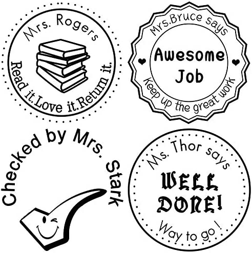 Custom Rubber Personalized Teacher Library Diameter product image