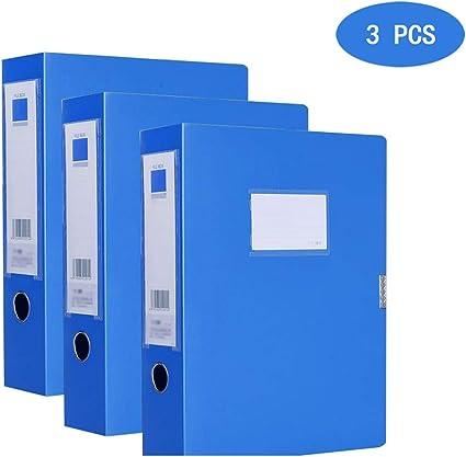 Carpeta de caja para el almacenamiento de documentos a largo mucho, A4, archivadora, lomo 10 cm, Sistema de módulo de almacenamiento con cajones o cajas Carpetas Archivo (3 piezas): Amazon.es: Oficina y