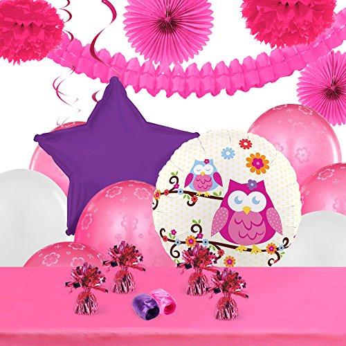 Owl Blossom Childrens Birthday Party Supplies - Decoration -