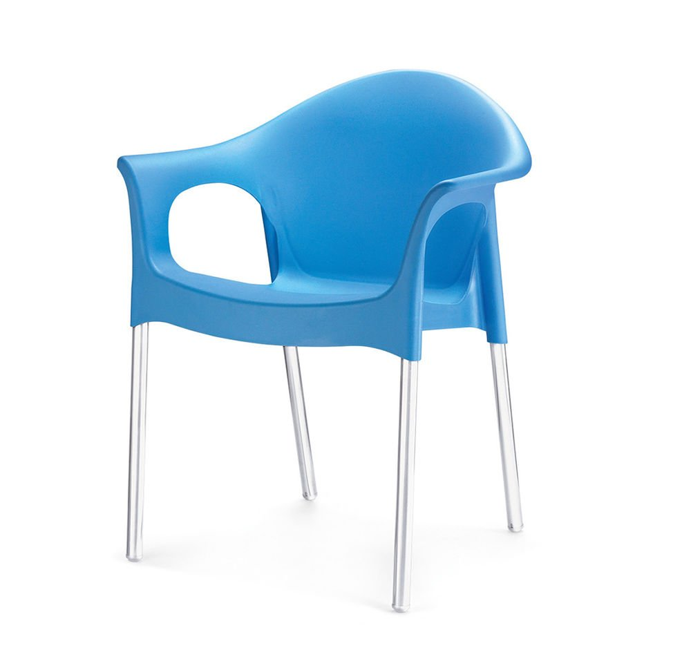 Nilkamal plastic chair -  Home By Nilkamal Novella Stainless Steel Leg With Armchair Blue Amazon In Home Kitchen
