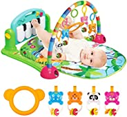 UNIH Baby Play Gym Mat, Kick and Play Piano Baby Gym Activity Center with Music Toys for Boys Girls Toddlers