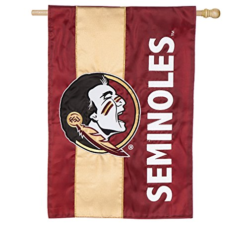 - Team Sports America Florida State University Outdoor Safe Double-Sided Embroidered Logo Applique House Flag, 29 x 44 inches