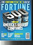 FORTUNE MAGAZINE, THE FORTUNE 500 DOUBLE ISSUE AMERICA'S BIGGEST COMPANIES 2017